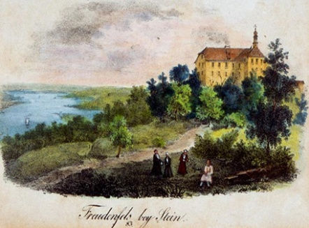 Colored lithograph, probably by G. Gersbach, after the drawing by Friedrich August Pecht, 1832.